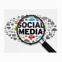 Social Media Computer Internet Typography Text Poster Small Glasses Cloth (2-Side)