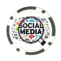 Social Media Computer Internet Typography Text Poster Poker Chip Card Guard
