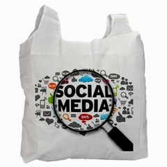 Social Media Computer Internet Typography Text Poster Recycle Bag (two Side)