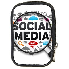 Social Media Computer Internet Typography Text Poster Compact Camera Cases