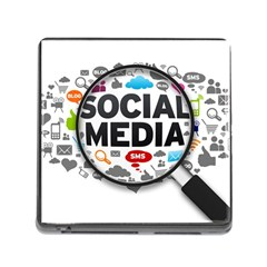 Social Media Computer Internet Typography Text Poster Memory Card Reader (square)