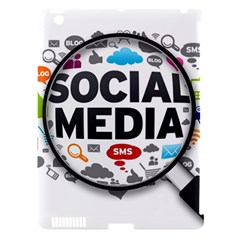 Social Media Computer Internet Typography Text Poster Apple iPad 3/4 Hardshell Case (Compatible with Smart Cover)