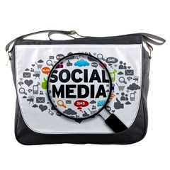 Social Media Computer Internet Typography Text Poster Messenger Bags