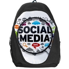 Social Media Computer Internet Typography Text Poster Backpack Bag