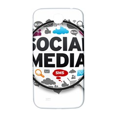 Social Media Computer Internet Typography Text Poster Samsung Galaxy S4 I9500/I9505  Hardshell Back Case