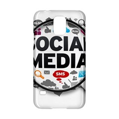 Social Media Computer Internet Typography Text Poster Samsung Galaxy S5 Hardshell Case