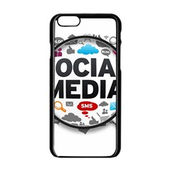 Social Media Computer Internet Typography Text Poster Apple Iphone 6/6s Black Enamel Case