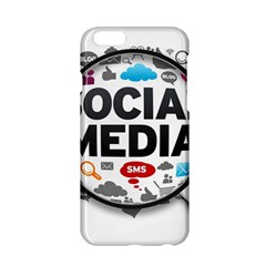 Social Media Computer Internet Typography Text Poster Apple iPhone 6/6S Hardshell Case