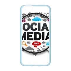 Social Media Computer Internet Typography Text Poster Apple Seamless iPhone 6/6S Case (Color)