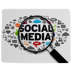Social Media Computer Internet Typography Text Poster Jigsaw Puzzle Photo Stand (Rectangular)