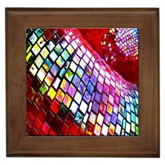 Multicolor Wall Mosaic Framed Tiles