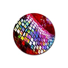 Multicolor Wall Mosaic Rubber Round Coaster (4 pack)