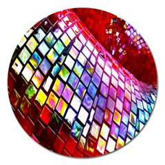 Multicolor Wall Mosaic Magnet 5  (Round)