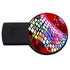 Multicolor Wall Mosaic USB Flash Drive Round (1 GB)