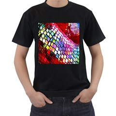 Multicolor Wall Mosaic Men s T-Shirt (Black) (Two Sided)