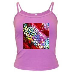 Multicolor Wall Mosaic Dark Spaghetti Tank