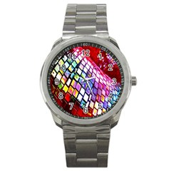 Multicolor Wall Mosaic Sport Metal Watch