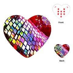 Multicolor Wall Mosaic Playing Cards (Heart)