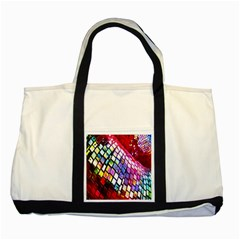Multicolor Wall Mosaic Two Tone Tote Bag