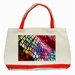 Multicolor Wall Mosaic Classic Tote Bag (Red)