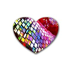Multicolor Wall Mosaic Rubber Coaster (Heart)