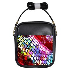 Multicolor Wall Mosaic Girls Sling Bags