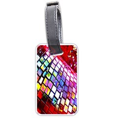 Multicolor Wall Mosaic Luggage Tags (one Side)