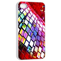 Multicolor Wall Mosaic Apple iPhone 4/4s Seamless Case (White)