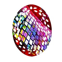 Multicolor Wall Mosaic Oval Filigree Ornament (two Sides)
