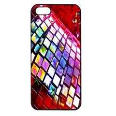 Multicolor Wall Mosaic Apple iPhone 5 Seamless Case (Black)