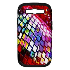 Multicolor Wall Mosaic Samsung Galaxy S III Hardshell Case (PC+Silicone)