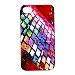 Multicolor Wall Mosaic Apple Iphone 4/4s Hardshell Case With Stand