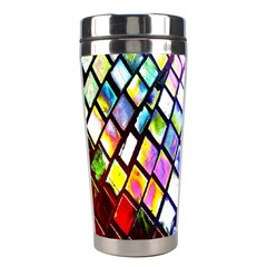 Multicolor Wall Mosaic Stainless Steel Travel Tumblers