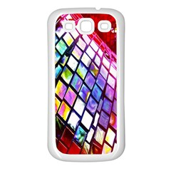 Multicolor Wall Mosaic Samsung Galaxy S3 Back Case (White)