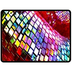 Multicolor Wall Mosaic Double Sided Fleece Blanket (Large)