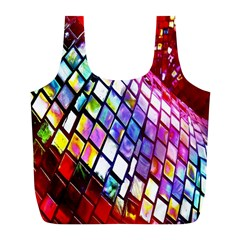 Multicolor Wall Mosaic Full Print Recycle Bags (L)