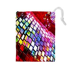 Multicolor Wall Mosaic Drawstring Pouches (large)