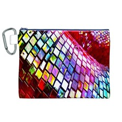 Multicolor Wall Mosaic Canvas Cosmetic Bag (XL)