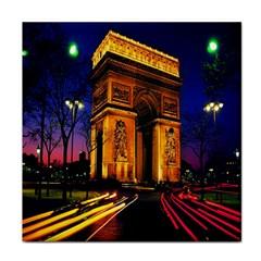 Paris Cityscapes Lights Multicolor France Tile Coasters