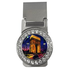 Paris Cityscapes Lights Multicolor France Money Clips (cz)