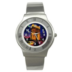 Paris Cityscapes Lights Multicolor France Stainless Steel Watch
