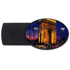 Paris Cityscapes Lights Multicolor France USB Flash Drive Oval (4 GB)