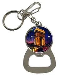 Paris Cityscapes Lights Multicolor France Button Necklaces