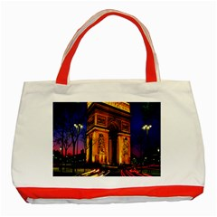 Paris Cityscapes Lights Multicolor France Classic Tote Bag (Red)