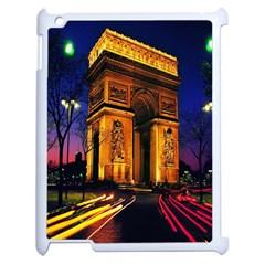 Paris Cityscapes Lights Multicolor France Apple iPad 2 Case (White)