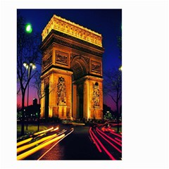 Paris Cityscapes Lights Multicolor France Small Garden Flag (two Sides)