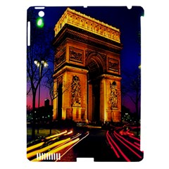 Paris Cityscapes Lights Multicolor France Apple iPad 3/4 Hardshell Case (Compatible with Smart Cover)