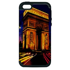 Paris Cityscapes Lights Multicolor France Apple iPhone 5 Hardshell Case (PC+Silicone)
