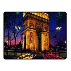 Paris Cityscapes Lights Multicolor France Double Sided Fleece Blanket (small)