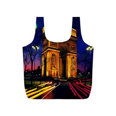 Paris Cityscapes Lights Multicolor France Full Print Recycle Bags (s)